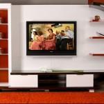kırmızı beyaz tv ünitesi modelleri